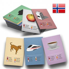 50 Learn Norwegian Flashcards