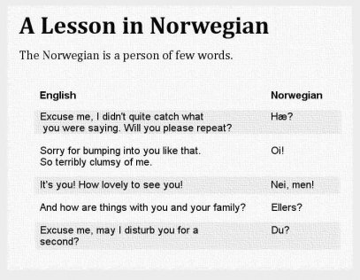 A Lesson in Norwegian The