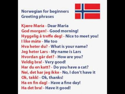 Learn Some Common Norwegian