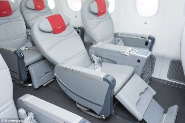 Spacious: The Premium cabin
