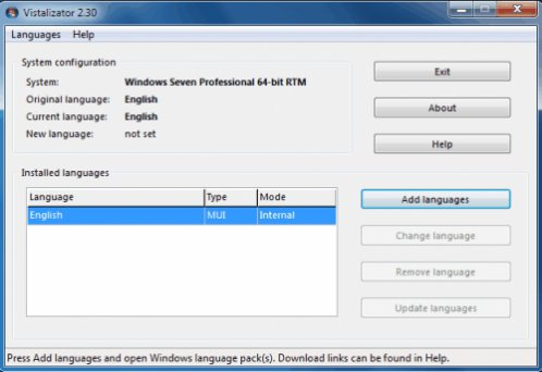 Windows 7 language packs