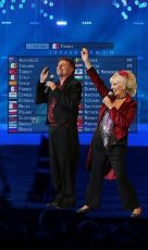 John Shortis and Moya Simpson are celebrating the Eurovison Song Contest.