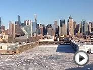 "Cruise Ship ""Norwegian Gem"" Frozen Leaves New York for 10"