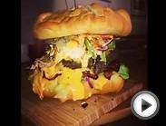 Giant Double Cheeseburger - Norwegian Meal Time