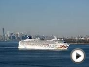 NCL Norwegian Gem Cruise Ship Departing New York Harbor, 3