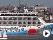 New York, New York - Norwegian Breakaway departs New York
