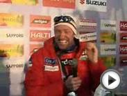 Norwegian cross-country skier making fun of report