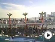 Norwegian Dawn Sail away party from Miami