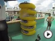 Norwegian Epic Water slide with GoPro