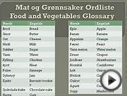 Norwegian words with English meanings