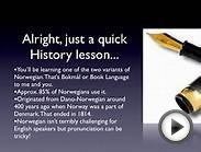 The Norwegian Alphabet - Basic Language Lesson - Norwegian